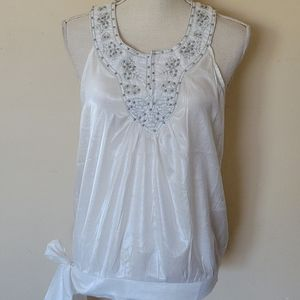 Simply Irresistible beaded blouse size medium